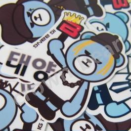 BIGBANG オリジナルYGベア 耐水ステッカー/SOL /テヤン/ ヨンベ ver.