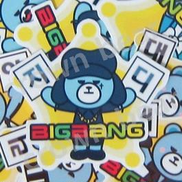 BIGBANG オリジナルYGベア ハングル名前入り耐水シール GD/ジヨン ver.