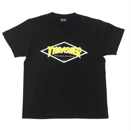 "Keith Haring × THRASHER Unisex T-Shirts ""Skater "" Black × Yellow【KH-037】"