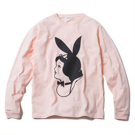 SNOW BUNNY LONG SLEEVE (PINK) : ARTWORK by JEROEN【CC17SS-003】