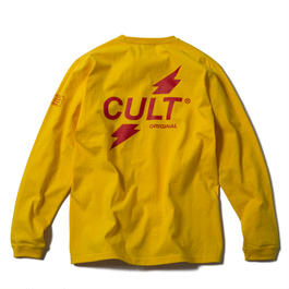 CRUSH LONG SLEEVE TEE (YELLOW) 【CC17AW-003】