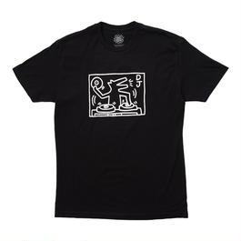 """Keith Haring Unisex T-Shirts """"DJ Dog """" キース・ヘリング ユニセックス Tシャツ【KH-019】"""
