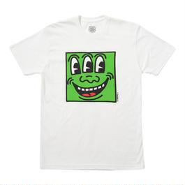 "Keith Haring Unisex T-Shirts ""3eyed"" White キース・ヘリング ユニセックス Tシャツ【KH-016】"