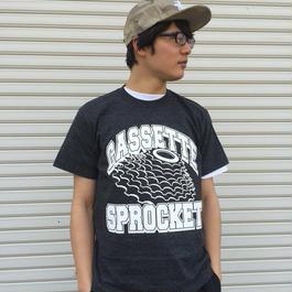 カセットスプロケットTシャツ(ヘザーブラック)