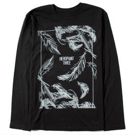 "DIAWOLF×HIEROPHANT THREE ""Feather""long sleeve shirt"