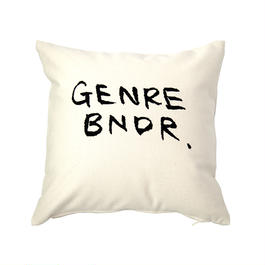 GENRE BNDR 刺繍 PILLOW / 30cm×30cm WHT