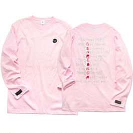 PLAY LIST Long-Sleeve T-shirt / 6.2oz PNK - PNK27030WH