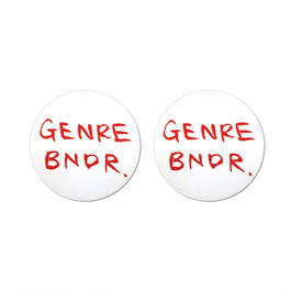 WHITE GENRE BNDR STICKERS (2点セット)