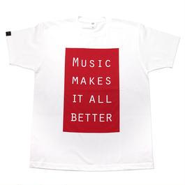 MMIB BOX LOGO T-shirt / 6.2oz WHT - WHT27019RD