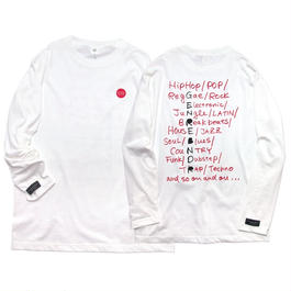PLAY LIST Long-Sleeve T-shirt / 6.2oz WHT - WHT27030RD