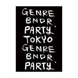 GENRE BNDR PARTY TOKYO Part2  ポスター B1 (サイズ : 728×1030mm)