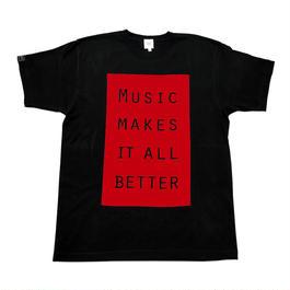 MMIB BOX LOGO T-shirt / 6.2oz BLK - BLK27019RD
