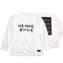 MMIB Back Print / 6.2oz WHT w/GB Long-sleeve - WHT27007BK