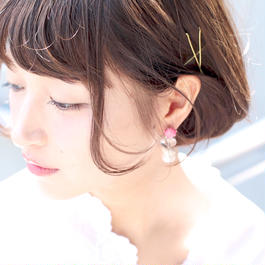loose pierce/earring PINK