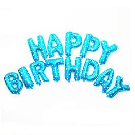 WEDDINGLAND(ウエディングランド)バルーン 誕生日 HAPPY BIRTHDAY 文字ブルーセット
