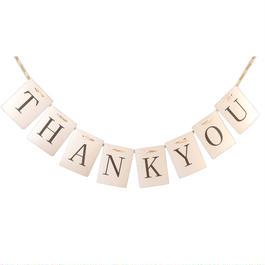 THANK YOU ペナント ガーランド パーティー 小物 ウェディング 小物 結婚式 アイテム ウエディング グッズ 装飾 インテリア