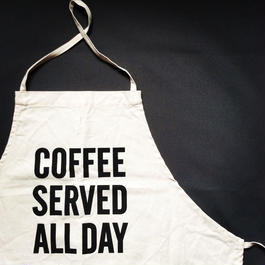 DRESSSEN ADULT APRON #34 COFFEE SERVED ALL DAY