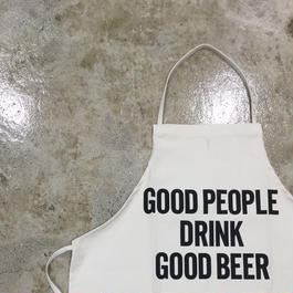 "DRESSSEN ADULT APRON  #4 ""GOOD PEOPLE DRINK GOOD BEER🔴新発売(新フォント)"