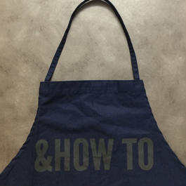 "DRESSSEN DR(NAVY)8 APRON ""&HOW  TO""🔴新発売"