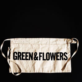 "DRESSSEN LW15 LOWER WALL APRON  ""GREEN&FLOWERS"""