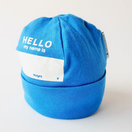 "DRIBBLE ""HELLO MY NAME IS"" ビーニー / BLUE"