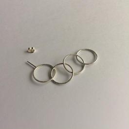 Ring earring , b4 / SV-SV-SV-SV