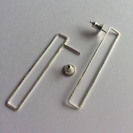 Rectangle earring, b40 /SV