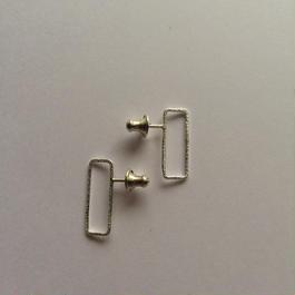 Rectangle earring, b18 /SV