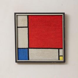"""""""Mondrian"""" hand woven wall art 031"""