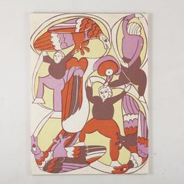 1974. silkscreen wall art 169