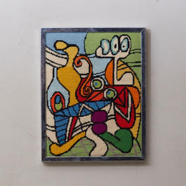 """Picaso""hand woven wall art 050"