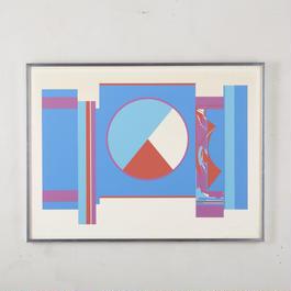 1975 Op art Artist signed 163