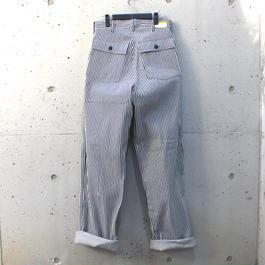 【Men's】ヒッコリーストライプ・ワークパンツ【California Brand】