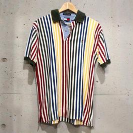 【Men's】【TOMMY HILFGER】マルチカラーストライプ・ポロシャツ