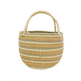 ワイルドバナナバスケット(アース)  Wild banana's fiber handwoven baskets(Earth)