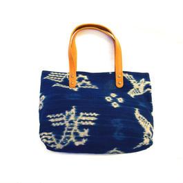 羊革イカットバック(青)  Lamb leather ikat bag(Blue)