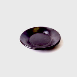 ロンボク焼きトレイ(黒)  Lombok pottery tray (black)