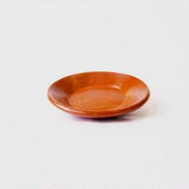 ロンボク焼きトレイ(朱)  Lombok pottery tray (vermilion)