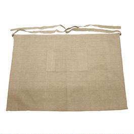 ラオスの手織り泥染め エプロン(短丈・1ポケット)