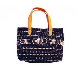 羊革イカットバック(黒)  Lamb leather ikat bag(Black)