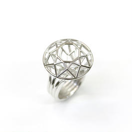 LIJ-R01-M Line Diamond Ring R01M