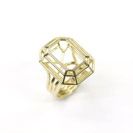 LIJ-R02-M Line Emerald Ring R01M
