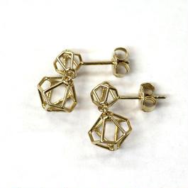 LIB-E02-SV(YG)  Line Beads Earring E02S