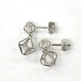 LIB-E02-SV(SV)  Line Beads Earring E02S