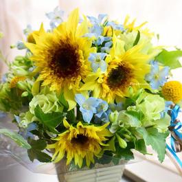 ひまわりのアレンジメント 又は花束