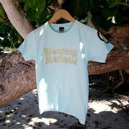 石垣島の人魚Tシャツ・ロゴタイプ / ライトブルー