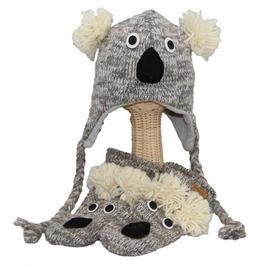 【 knit wits】ニットウィッツ コアラ 手編みニット ウィンター/ミトン 大人・子供セット