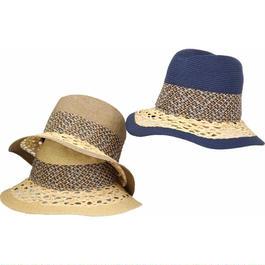 [ROBERTIDEA] r9557 ロベルトイデア イタリア製 ブレード中折れHAT 帽子 おしゃれ ストローハット 麦わら帽子 春夏新作 リゾート帽子 レディース