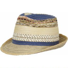 [HATS&DREAMS] v47060 ミックスブレード中折れHAT 春夏新作 リゾート帽子 イタリア製 レディースメンズ HAT おしゃれ