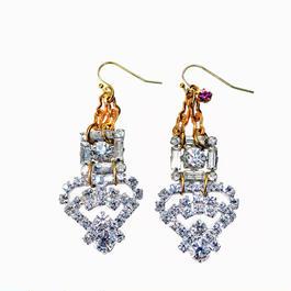Vintage Renaissance イヤリング  Vintage bucles rhinestone earrings VRER02